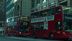 London, UK - AUGUST 02: Bishopsgate street, afternoon, London in 2015. Stock Footage