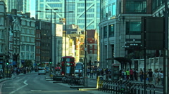 London, UK - AUGUST 02: Bishopsgate street, afternoon, London in 2015. Stock Footage