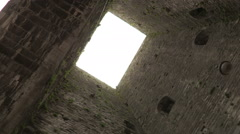 Interior of a medieval tower Stock Footage