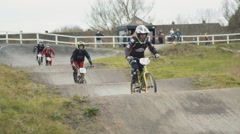 Kid BMX Racing - stock footage