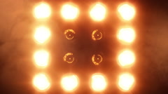 Shiny lights turning on and off. Stage lights. Amber. Stock Footage