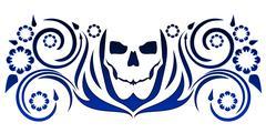 Skull tattoo design Stock Illustration