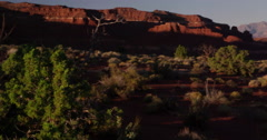 High desert above the Colorado River in Glenn Canyon National Recreation Area Stock Footage