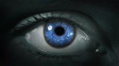 Dark Eye. Multicolored and Blue. Dark gray skin.  Each video is loopable. Stock Footage