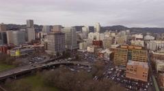 Aerial Portland Oregon - Downtown Stock Footage