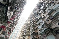 Crowded Hong Kong - stock photo