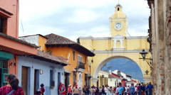 ANTIGUA GUATEMALA ARCH Stock Footage