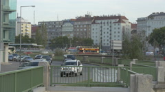 Traffic on Obere Donaustrasse, Vienna Stock Footage