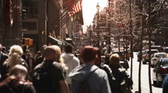 Crowded street. New York City, United States. More options in my portfolio. - stock footage