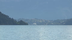 The countryside around the shores of Lake Como Stock Footage