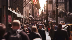 Anonymous crowd walking in New York City. More options in my portfolio. Stock Footage