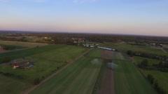 Irrigation of Turf Farm - stock footage