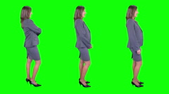 Businesswoman spinning. Chroma key. 3 in 1. More options in my portfolio. - stock footage