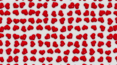 Valentine's Day Red Hearts Stock Footage