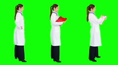 Young female doctor smiling. Green Screen. More options in my portfolio. Stock Footage