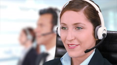 Woman working in a call center. Telemarketer. More options in my portfolio. Stock Footage