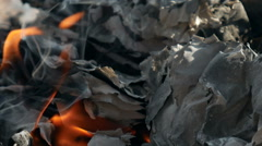 Burning paper Stock Footage