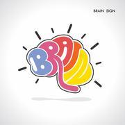 Brain sign,brain logo,mine,creative,learning logo,eduction logo,school,kids,a Stock Illustration