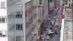New York Midtown High Angle Traffic Stock Footage