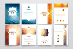 Set of brochures in poligonal style on Presidents Day theme Stock Illustration