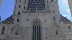 Great view of Stephansdom's facade, Vienna Stock Footage