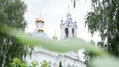 Russian Christian temple or church. Stock Footage