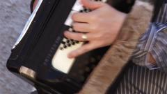 Stock Video Footage of Male playing the accordion during a party
