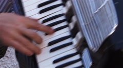 Male playing the accordion during a party 2 Stock Footage