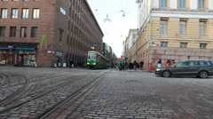 Stock Video Footage of Public passenger ecological transport is in capital of Finland