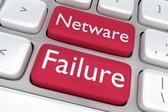 Network Failure concept Stock Illustration