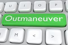 Outmaneuver concept Stock Illustration