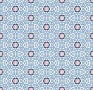 Norwegian winter snowflakes blue pattern - stock illustration