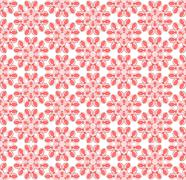 Abstract pink floral pattern - stock illustration