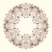 Abstract Ornate Mandala. Decorative frame for design - stock illustration