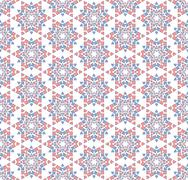 Abstract background or textile Winter blue pink star pattern Stock Illustration