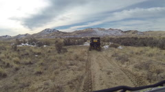 Following 4x4 sport recreation vehicle desert trail POV HD Stock Footage