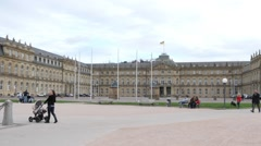 New Palace Stuttgart Stock Footage