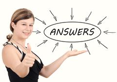 Answers - stock photo
