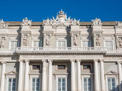 Detail of Facade of Doge's Palace Genoa (Palazzo Ducale) Stock Photos