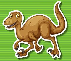 Brown dinosaur with sharp claws Stock Illustration