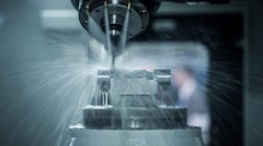 Metalworking CNC milling machine. Stock Footage
