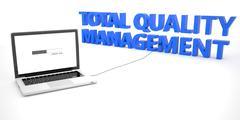 Total Quality Management Stock Illustration