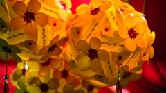 Lunar new year symbols in Vietnam Stock Footage