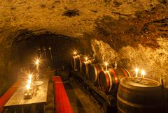 Wine cellar in Velka Trna, Tokaj wine region, Slovakia Stock Photos