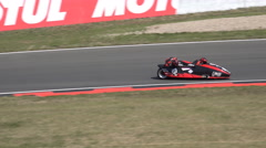 4k Sidecar motorsports courve racing Germany Stock Footage