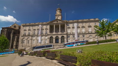 The Palacio da Bolsa timelapse hyperlapse Stock Exchange Palace is a historical Stock Footage
