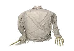 mummy horror for halloween isolate on white background - stock photo