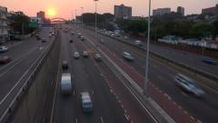 Fast motion traffic on Durban highway. Stock Footage