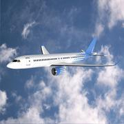 Bombardier cs300 commercial airplane - 3D model