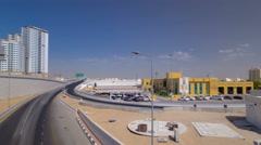 Cityscape of Ajman from bridge at day timelapse. hyperlapse Ajman is the capital Stock Footage